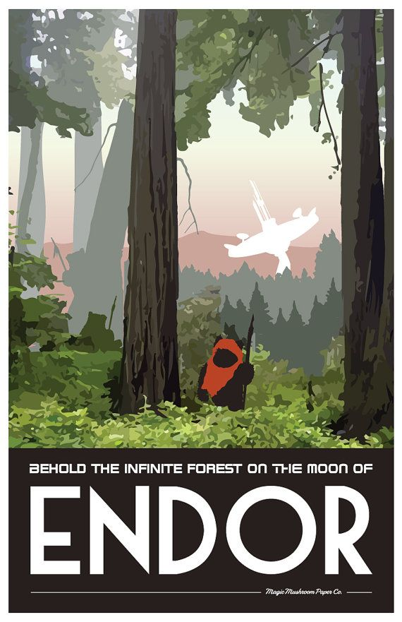 Endor Poster Star Wars Space Opera Shadow Run